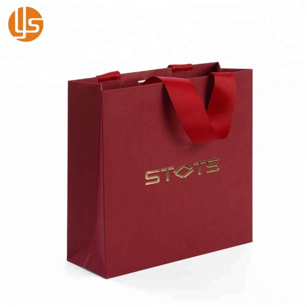34cbd38931321 China Manufacture Wholesale Custom designs Handmade Garment Packaging Red  Fancy Shopping Paper Bag